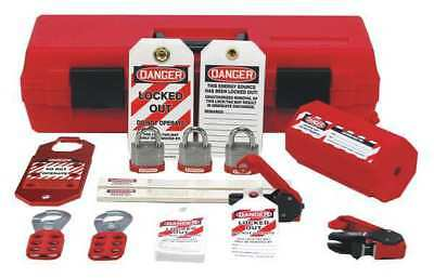 Portable Lockout Kit,Red,Plastic,Tool Bx STOPOUT KSK234