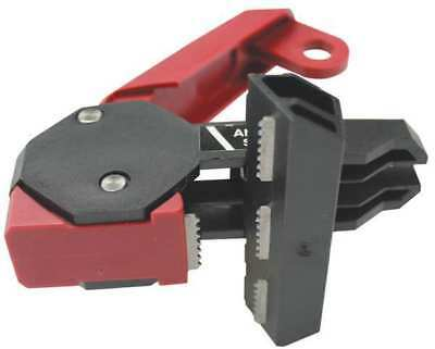 STOPOUT KDD162 Circuit Breaker Lockout,Red/Blk,2-1/2inW G1881297