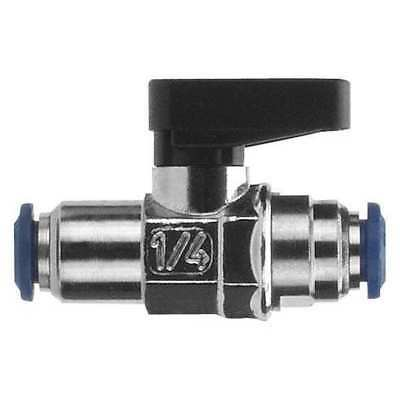 "1/8"" Push Nickel Brass Mini Ball Valve Inline ALPHA FITTINGS 86320-00-02"