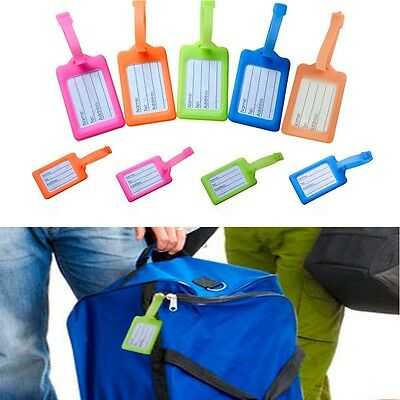 Plastic New 5 Pcs Bag Travel Holder Name ID Tag Suitcase Baggage Card Luggage