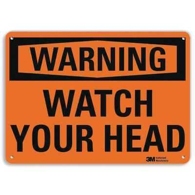 Warning Sign,Watch Your Head,7 in. H LYLE U6-1268-RA_10X7
