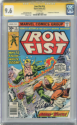 1977 Iron Fist 14 CGC 9.6 Signed By Stan Lee 1st Sabretooth