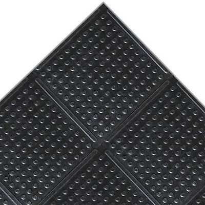 NOTRAX 758C0048BL60 Antislip Floor Mat,Black,4ft. x 60ft. G2230840