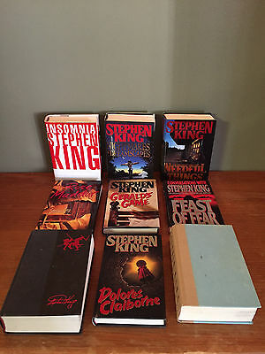 Lot of 9 Stephen King Hardcover Books - The Stand, Insomnia, Needful Things, +