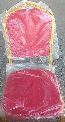 CROWN BACK STACKING BANQUET LOT OF 40 CHAIRs WITH 6 COLOR FABRICS