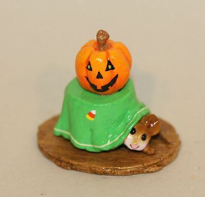 Wee Forest Folk Christmas Eve M-191a Mouse Table Pumpkin Candy Corn Halloween