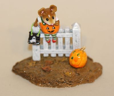 Wee Forest Folk Pickity Pumpkin Black Mouth M-232 Halloween Picket Fence