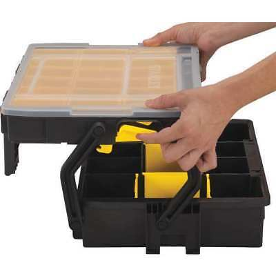 STANLEY STST14028 Compartment Box,Black,15-39/64 in. D G3716907