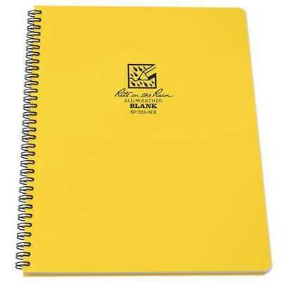 Maxi Notebook,42 Sheets,Yellow Cover RITE IN THE RAIN 333-MX