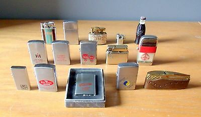 Lot Of 15 Minature Vintage Lighters, Zippo, Ronson, Libertylite,Scripto,Prince.