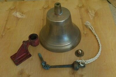Super Rare Marine Bronze former USN Ship's 10 in Bell Heavy, Loud, Clear as a..