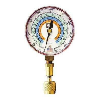 JB INDUSTRIES QC-G856 Test Gauge,Red,For R-22, R-134A, R-404A G4037330
