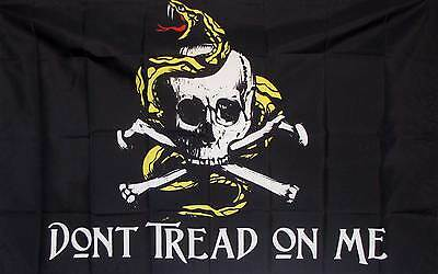 Don't Tread On Me Pirate Flag 3' x 5' Gun Rights Tea Party Historical Banner