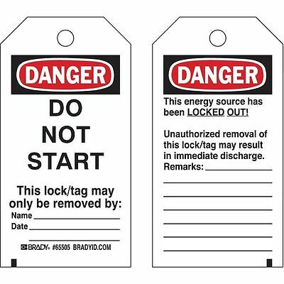 BRADY 65505 Danger Tag, 5-1/2 x 3 In, Hd Polyest, PK25