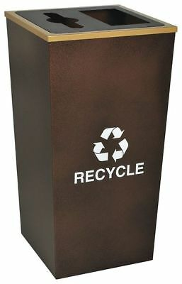 34 gal. Recycling Container Square, Brown Steel TOUGH GUY 22N282
