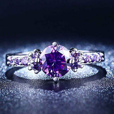 1PC Deep Purple (Zircon) Stone Ring For Lady size 6/7/8/9
