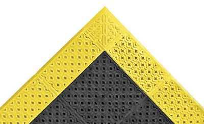 """Drainage Mat,Black wYlwBrdr,2ft. 6""""x8ft. NOTRAX 520S3096BY"""