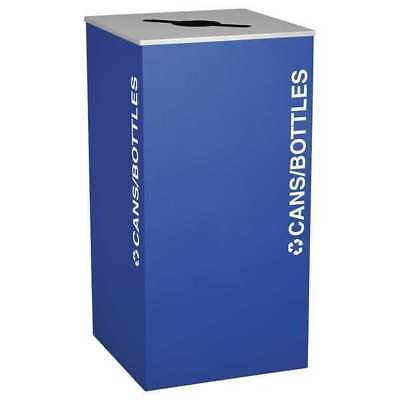 36 gal. Recycling Container Square, Blue Steel TOUGH GUY 22N307