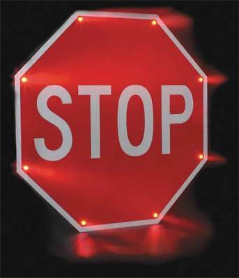 TAPCO 2180-00203 LED Stop Sign, Stop, White/Red
