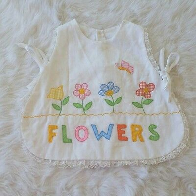 Vintage baby girl apron top