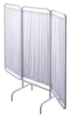 R&B WIRE PRODUCTS INC. PSS-3 Privacy Screen, 3 Panel, White, Pdr Ct St