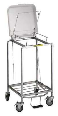 R&B WIRE PRODUCTS INC. 672NB Laundry Hamper Cart, 1 Comp, Gry, 3.5 cu ft