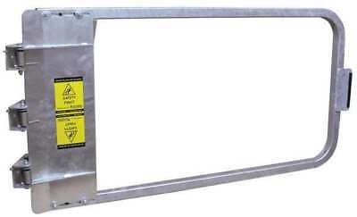 Safety Gate,42-3/4 to 46-1/2 In,Steel PS DOORS LSG-44-GAL