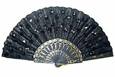 Beautiful Lady's embroider Silk Folding Hand Fan Handcraft FANS Red