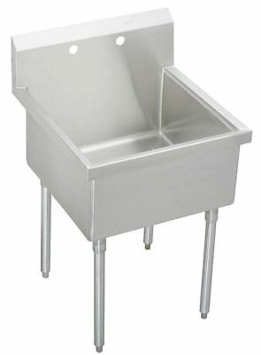 "Elkay Floor Mount Scullery Sink, Stainless Steel Bowl Size 24"" x 24"", WNSF81242"