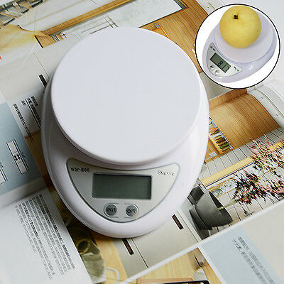 Weight Electronic Kitchen Food Weighing Scale Digital Balance  5kg/1g