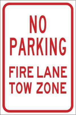 BRADY 103732 No Parking Sign,Fire Lane Tow Zone,18inH G9402662