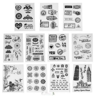 Transparent Clear Stamp DIY Silicone Seals Sheet Cling Scrapbooking Card Decor