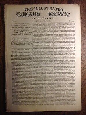 Illustrated London News, supplement, 1853 BUDGET- TABLE OF STAMP DUTIES & TAXES