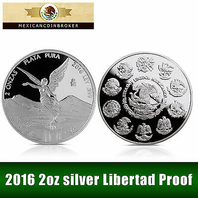 2016 2oz Silver Libertad Proof   *Treasure Coins of Mexico™*