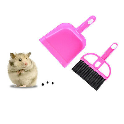 Dustpan+Broom Sweeper Clean Kit for Pet Hamster Small Animal Toilet Brush Tool