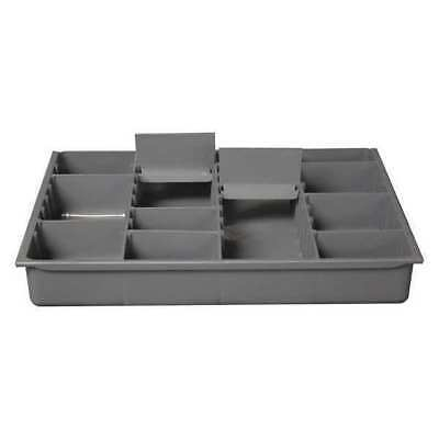 Compartment Box,9 Dividers,24 lb.,Gray DURHAM 229-95-ADS-IND