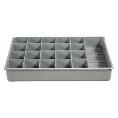 DURHAM 124-95-21-IND Compartment Box,21 Compartments,40 lb. G6211278