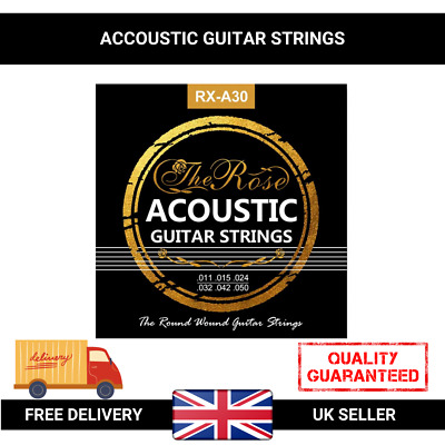 6Pcs Acoustic Classic Steel Guitar Strings Medium Gauge Replacement UK Stock