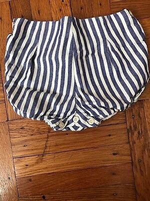 Nanos baby  size 6 month blue and white striped cotton bloomers unisex boy girl