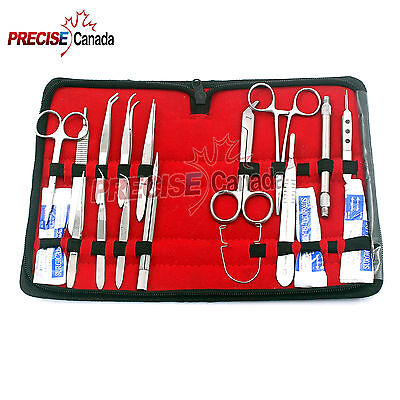 56 Pcs Eye Micro Minor Surgery Surgical Opthalmic Instrument Student Set Kit