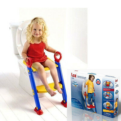 Keraiz Kids Toddler Space Baby Safe Toilet chair ladder Training Potty Seat Blue