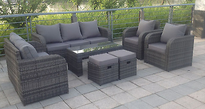 9 seater rattan garden furniture set sofa reclining chairs for 9 seater sofa set