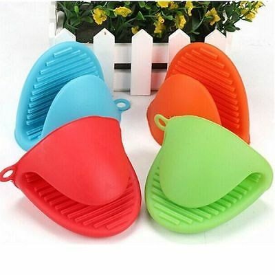 Silicone Hot Pot Holder Oven Gloves Mini Oven mitts 2 Pcs cooking pinch grips