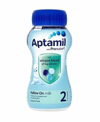 Aptamil Pronutra+ 2 Follow On Milk 6-12 Months 200ml 1 2 3 6 Packs
