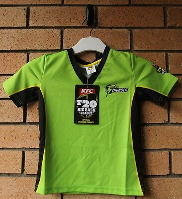 Bnwt Sydney Thunder Cricket Boy's T20 Bbl Jersey Majestic Athletic Size 6
