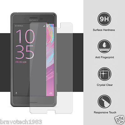 Premium 9H Clear Tempered Glass Screen Protector For Sony Xperia X Performance