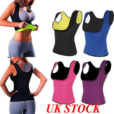 UK Thermo Sweat Body Shaper Corset Slimming Waist Trainer Cincher Clincher Vest