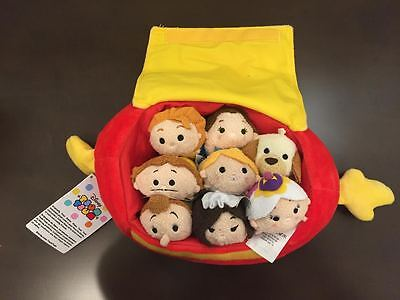 Disney Store Beauty and the Beast Tsum Tsum Footstool Bag Set New with Tags