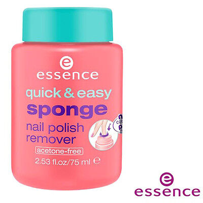 [ESSENCE] Quick & Easy Acetone Free Sponge In Nail Polish Remover 75ml NEW