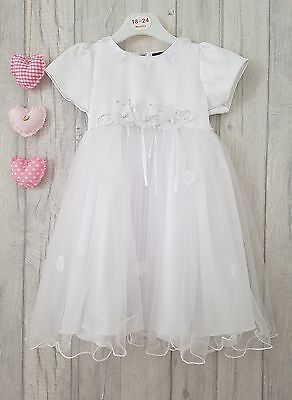 Gorgeous White Flower Girl Dress Christening Wedding Bridesmaid KCL LONDON ☆